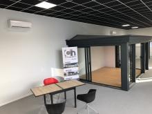 Climatisation avec un ensemble de muraux Hitachi Cooling & Heating France – Cré'habitat 25 / Concept Alu – Chalezeule (2021)